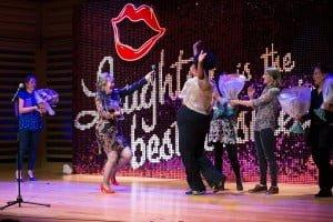 Lynne Parker & Desiree Burch's victory dance