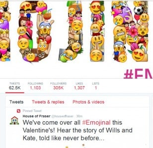 House of Fraser gets uncomfortably Emojinal
