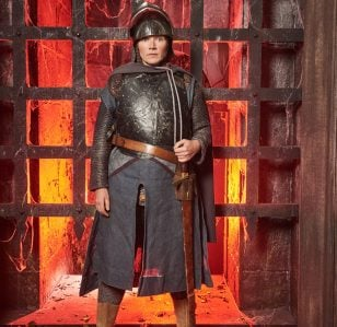Jessica Hynes is On Guard in the Crystal Maze