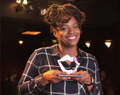 Thanyia Moore wins the 2017 Funny Women Awards!