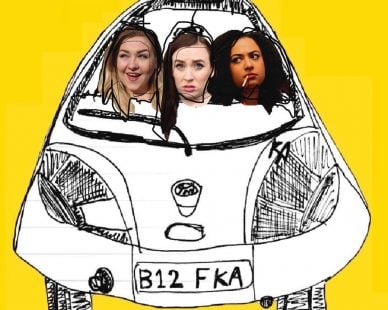 Bitches in the Ford KA at VAULTS Festival